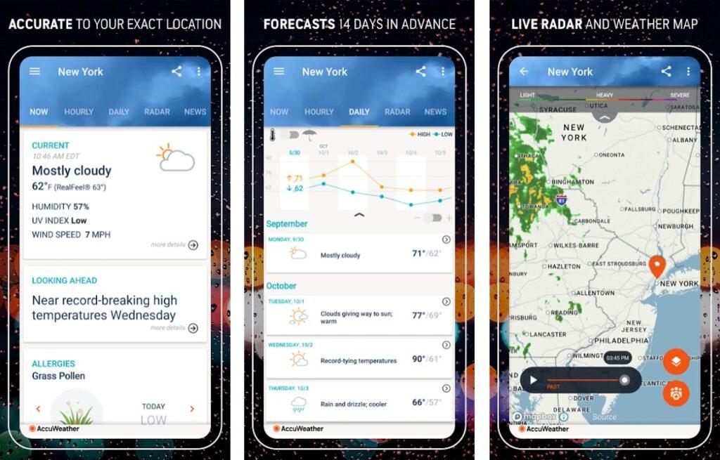 AccuWeather, melhor aplicativo de clima para iPhone