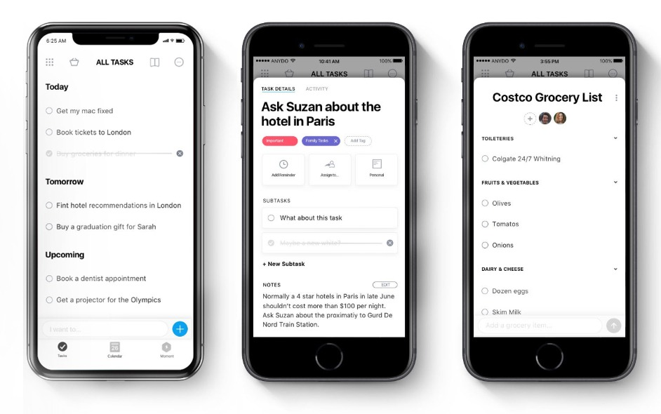 Any.Do, melhor aplicativo gratuito de calendário para iPhone
