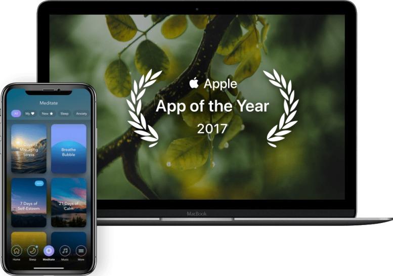 Calm, melhor aplicativo de meditação e sono para iPhone