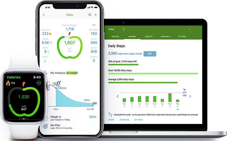 MyNetDiary - Melhor aplicativo de rastreamento de nutrição para iPhone
