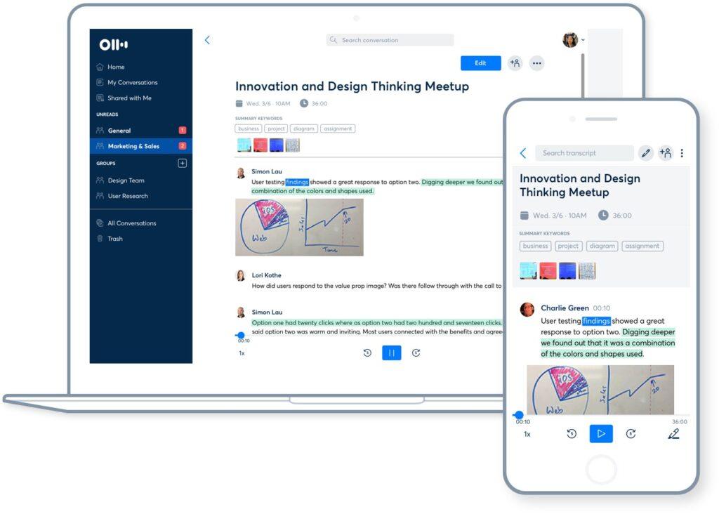 Otter Voice Notes, melhor aplicativo para iPhone para transcrição