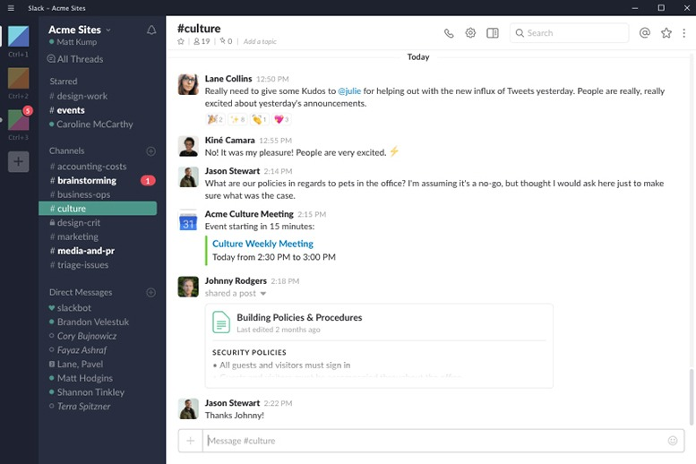 Slack é um dos melhores aplicativos de plataforma de mensagens instantâneas que você pode obter.