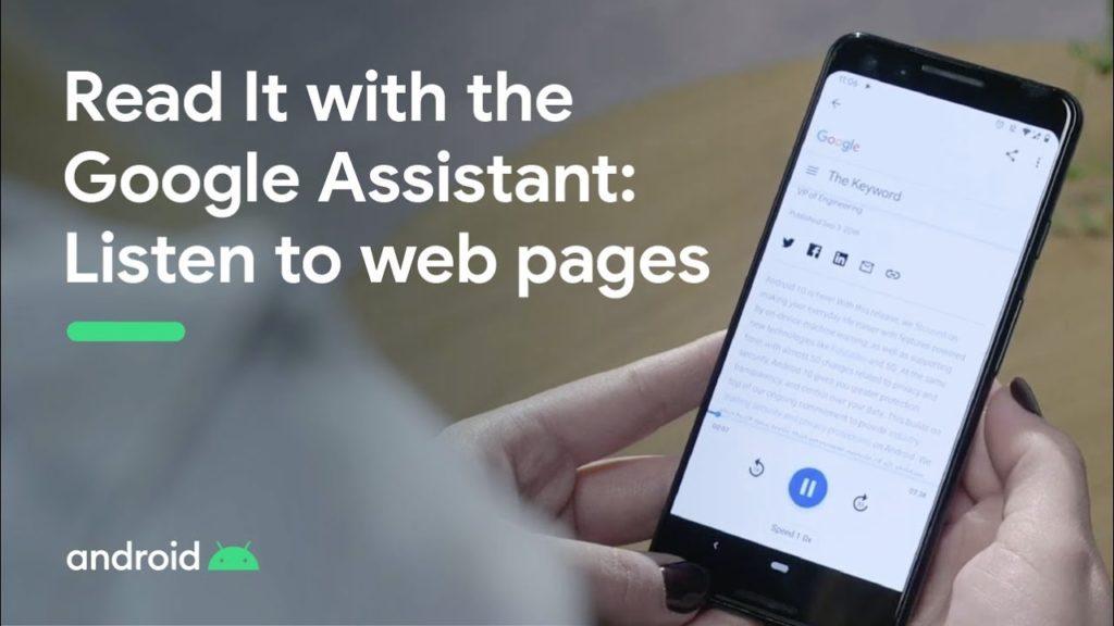 Assistente do Google pode ler