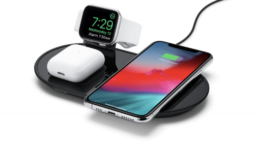 Base de carregamento sem fio Mophie, carrega iphone, air pods e apple watch