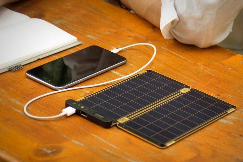 Carregador de energia solar para celular