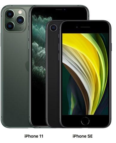 Diferença de tamanhos iPhone 11 e novo iPhone SE
